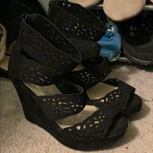 Torrid strappy heels with cutouts - size 12